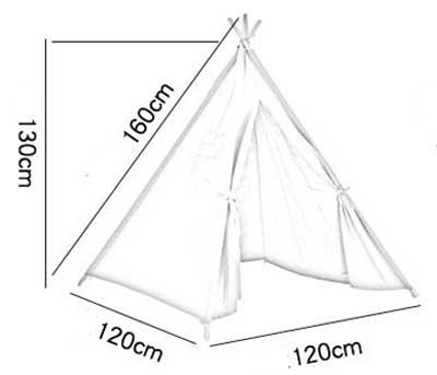 kích thước lều vải cho bé trai