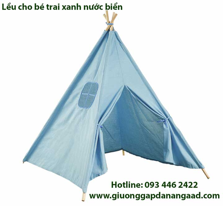Lều vải bé trai màu xanh nước biển
