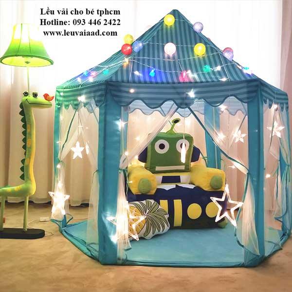 lều công chúa cho bé tphcm màu xanh