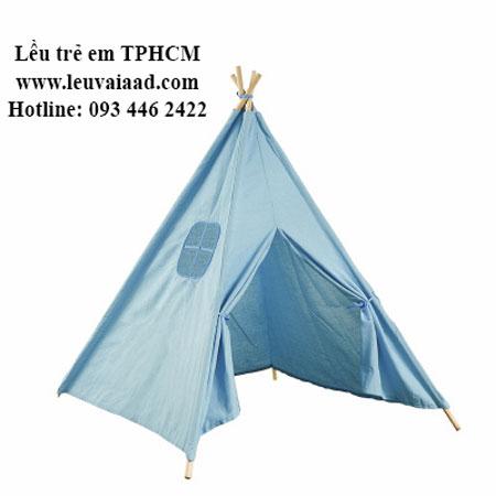 lều màu xanh