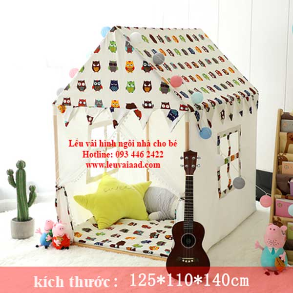 lều vải trẻ em hình ngôi nhà