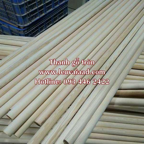 thanh tròn gỗ dài